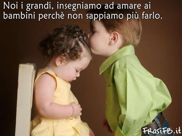Frasi D Amore Dei Bambini.Simpatiche Immagini Di Bambini Con Frasi Damore