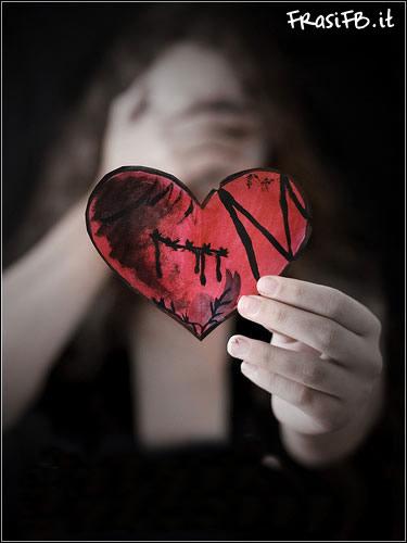 Super Foto FB amore finito con cuore spezzato MK46