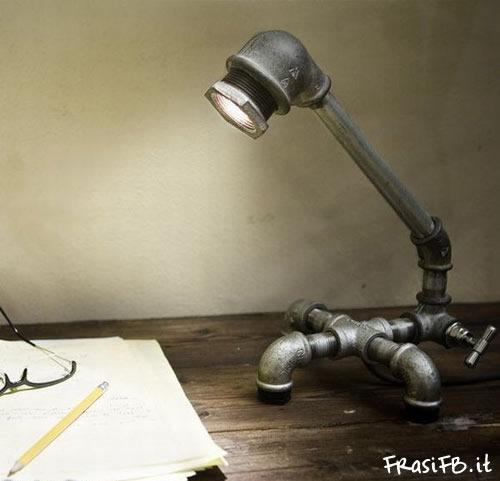 Lampade Con Tubi Idraulici Idea D Immagine Di Decorazione