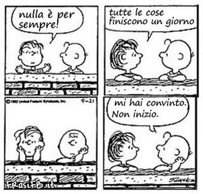 Vignetta Facebook Charlie Brown Nulla E Per Sempre