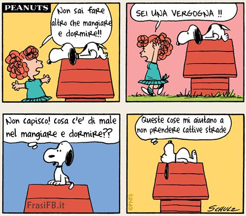 Snoopy prende cattive strade for Vignette simpatiche buongiorno
