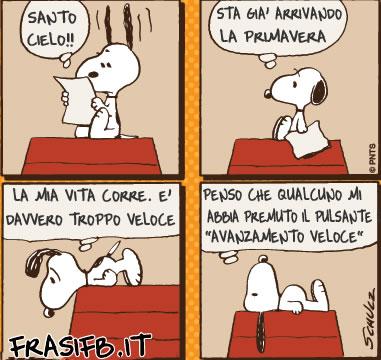Souvent Santo cielo, vignetta snoopy - FrasiFB.it RI56